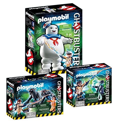 b27db3ea6e575 PLAYMOBIL® Ghostbusters Set  9221 Stay Puft + 9223 Venkman   Terror-Dogs +