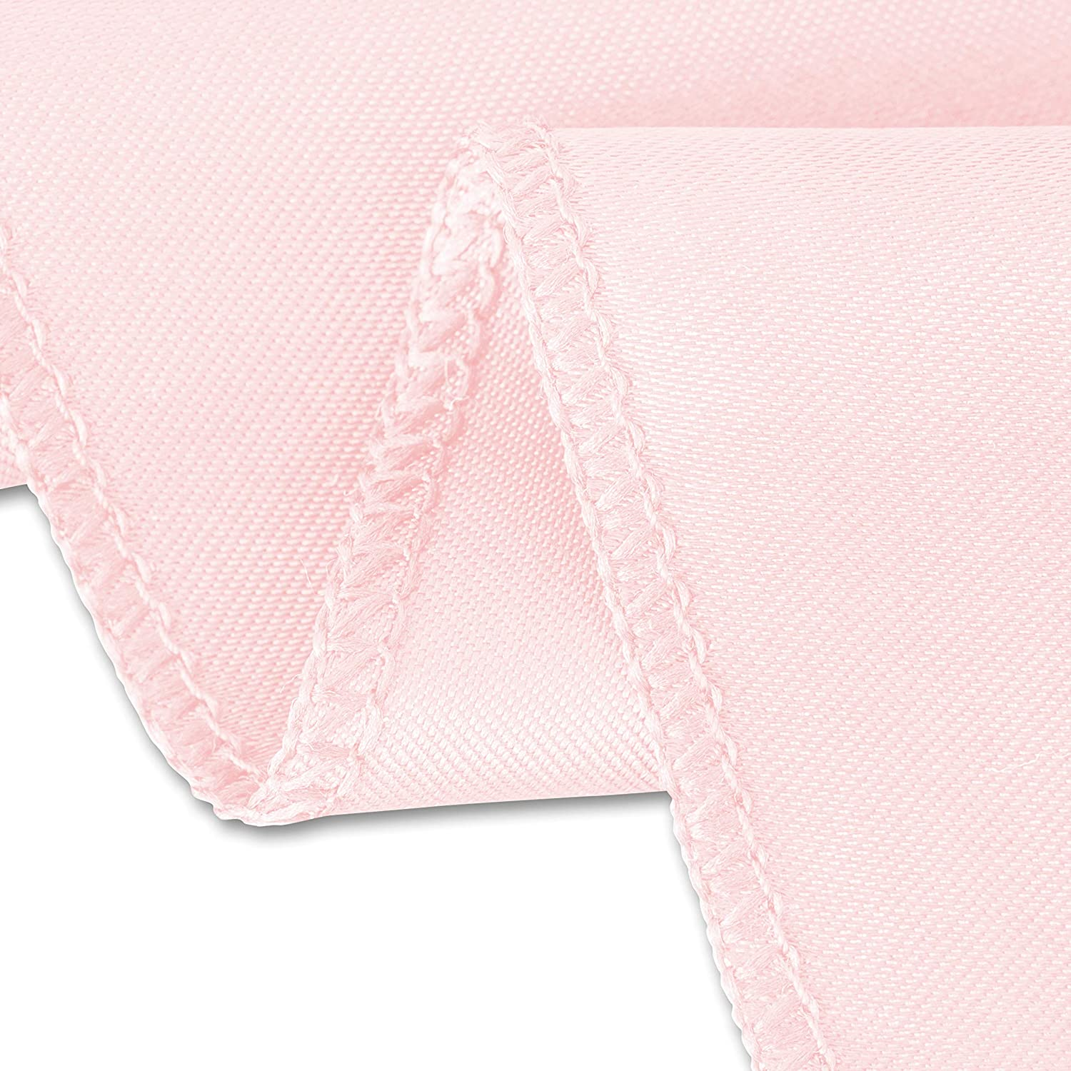 Round Satin Tablecloth Light Pink LinenTablecloth 118 in
