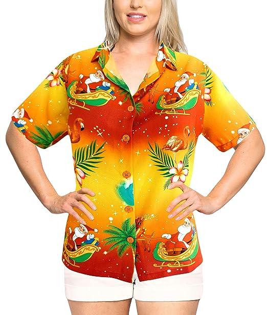 Women Hawaiian Shirt Beach Top Blouses Casual Aloha Holiday Tank ...