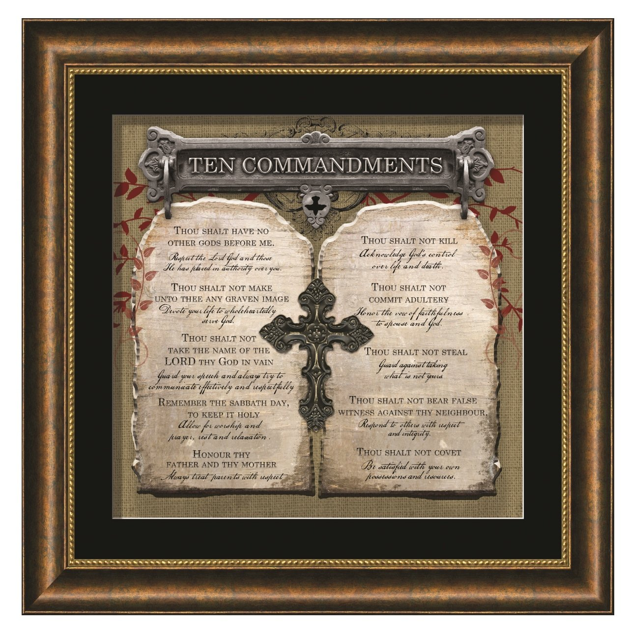 Carpentree Ten Commandments Framed Artwork by Carpentree