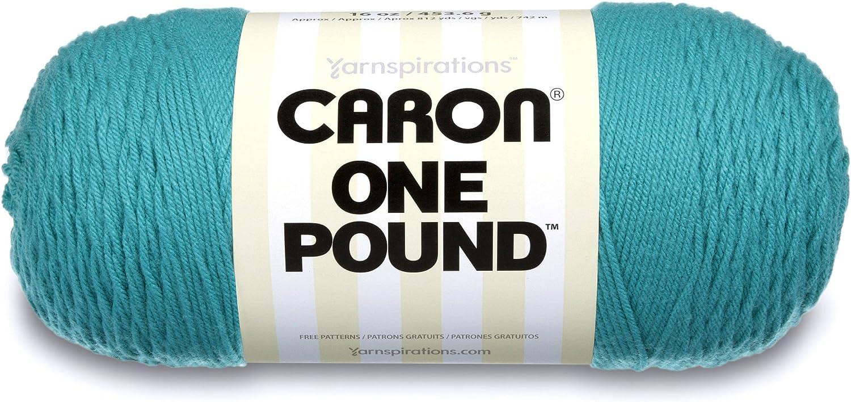 Knitting /& Crafting Caron One Pound Solids Yarn- Medium Gauge 100/% Acrylic-16 oz-Aqua-For Crochet 4