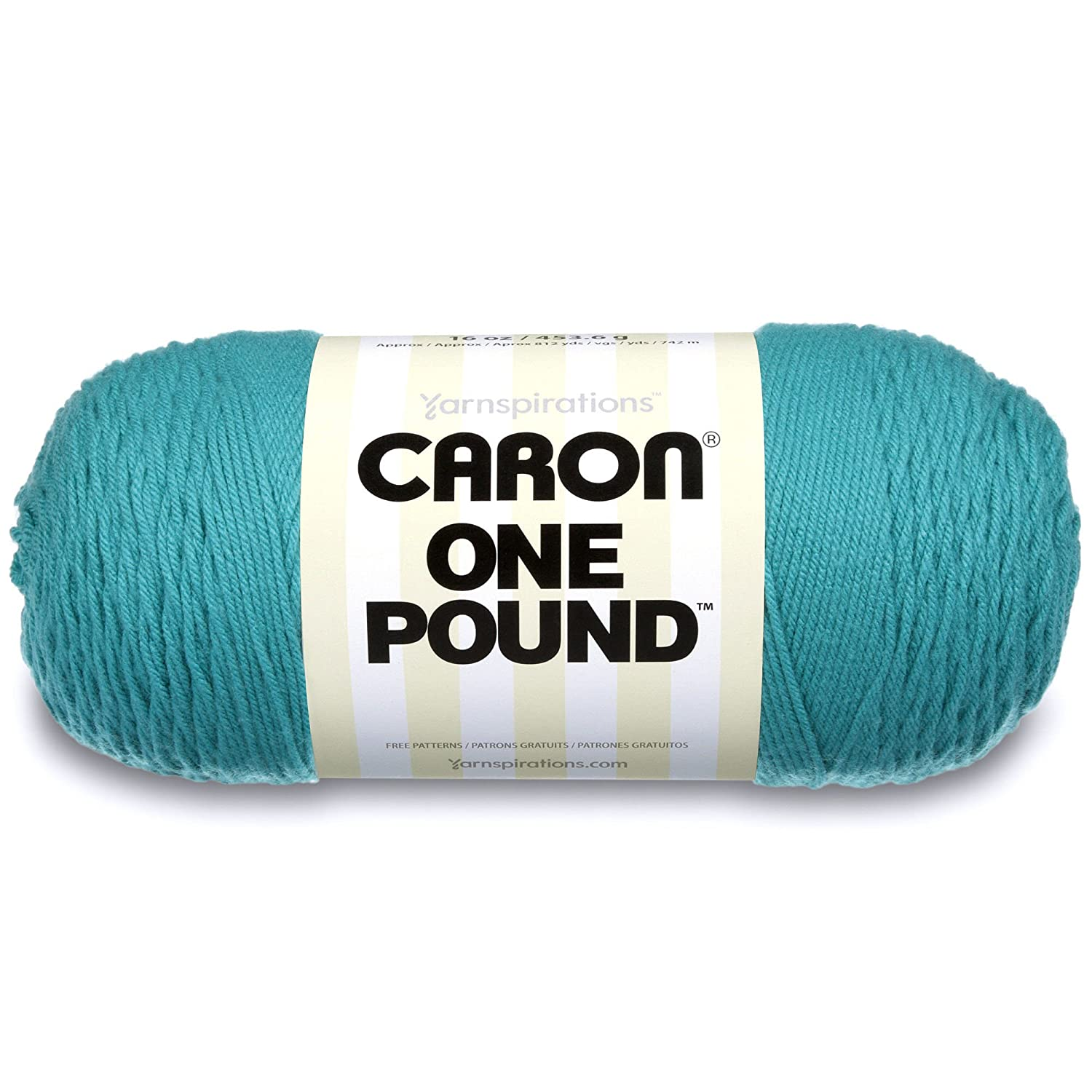 Caron One Pound Solids Yarn - (4) Medium Gauge 100% Acrylic - 16 oz - Black- For Crochet, Knitting & Crafting Spinrite 294010-10503