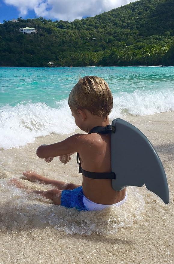 Fin Fun Aleta de tiburón para Disfraz de natación, Infantil, Gris Oscuro: Amazon.es: Deportes y aire libre
