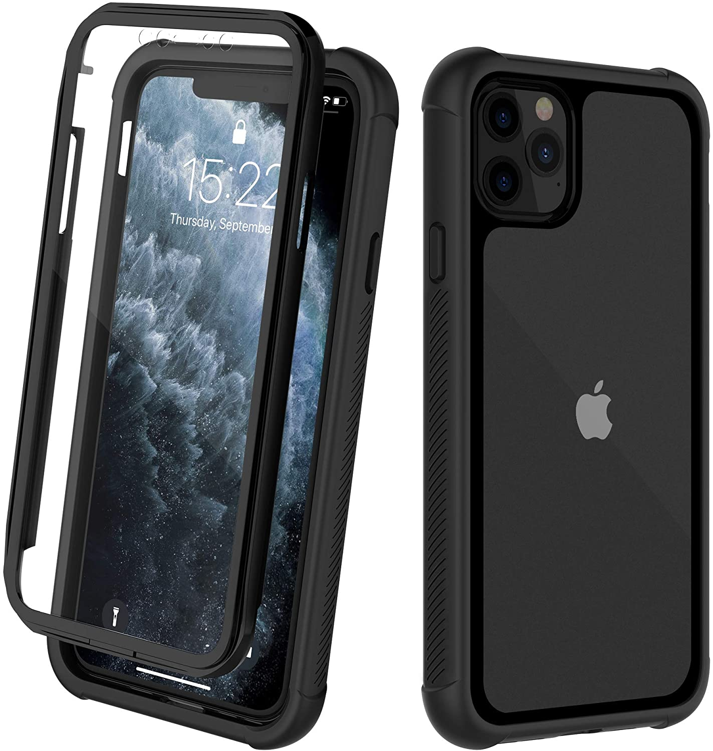 ORDTBY iPhone 11 Pro Max Case, Full-Body Heavy-Duty Protection with Built-in Screen Bumper Protector 360 Protective Shockproof Rugged Cover for iPhone 11 Pro Max (6.5 inch)