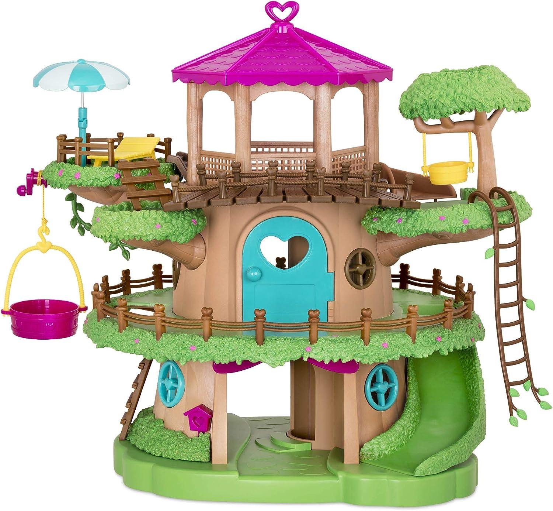 Superior Li'l Woodzeez Family Treehouse with Crank Elevator Playse – New life 22pc