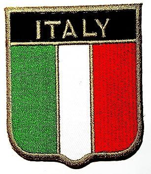 Italia bandera de Italia Escudo nacional Roma país equipo militar Logo  camiseta parche chaqueta coser hierro 1d6cbf2ca4971