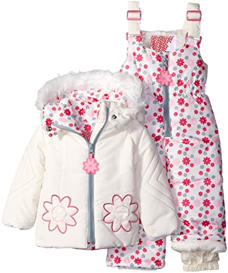 fa6933463 kensie Baby Girls  2 Piece Snowsuit  Amazon.in  Clothing   Accessories