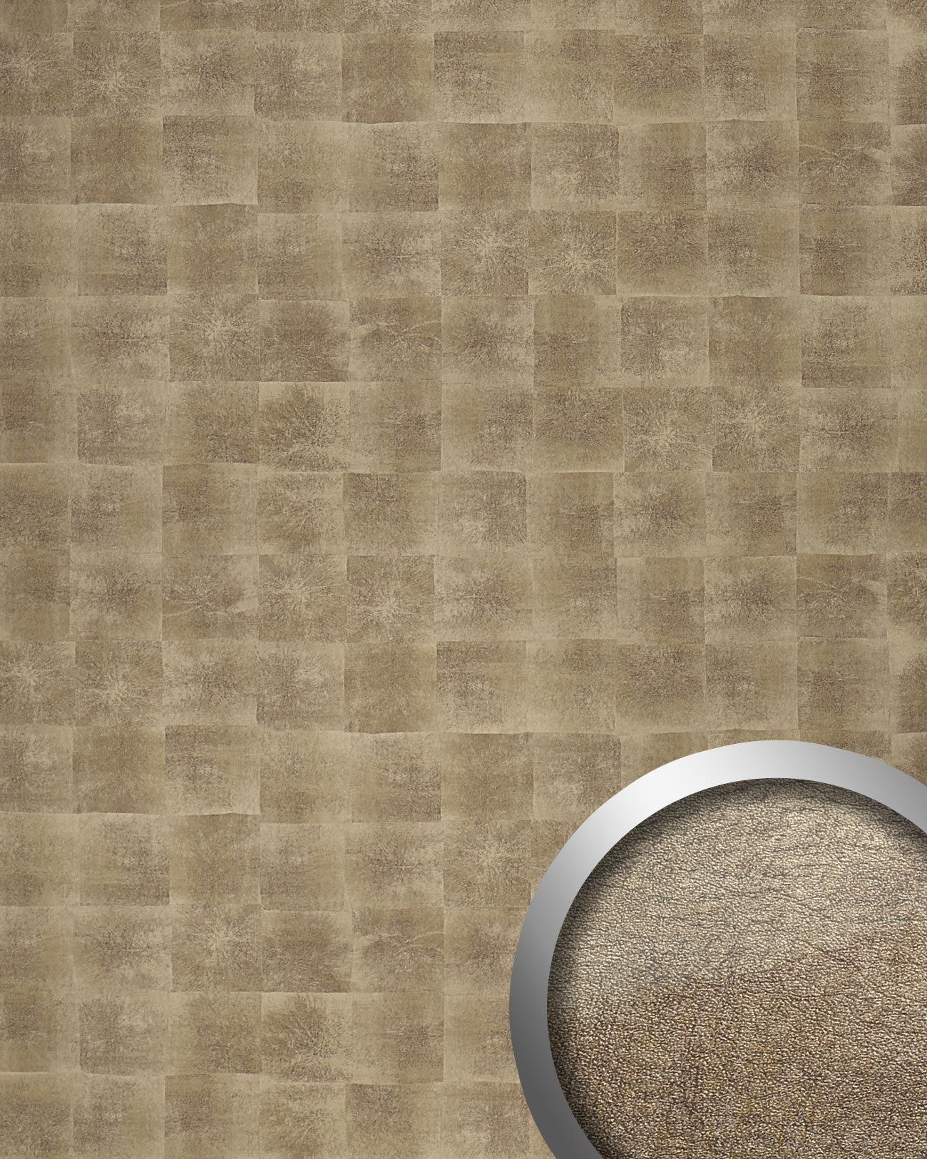 WallFace 17846 DECO LUXURY Wall panel self-adhesive Metal design Luxury wallcovering self-adhesive bronze   2,60 sqm
