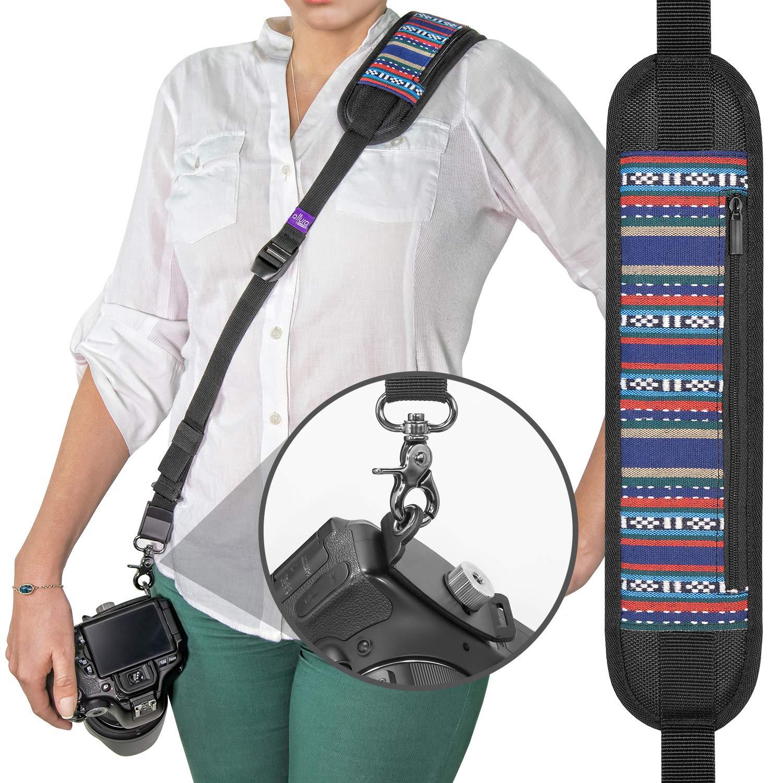 Altura Photo Rapid Fire Vintage Camera Neck Strap W Caden Quick Sling Kamera Release And Safety Tether