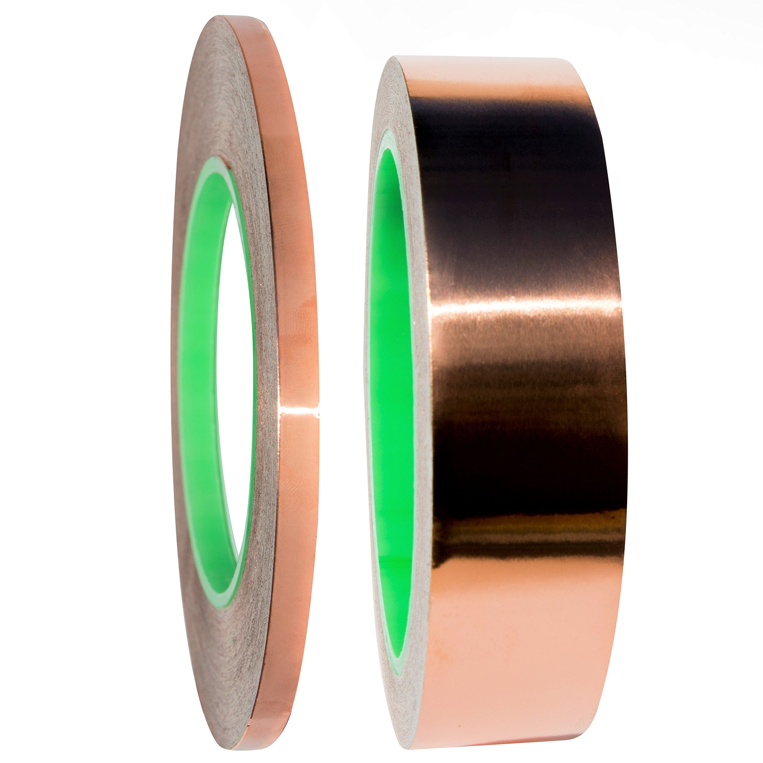 Freely Copper Foil Tape with Conductive Adhesive - 2 Pack (1Inch x 45ft & 1