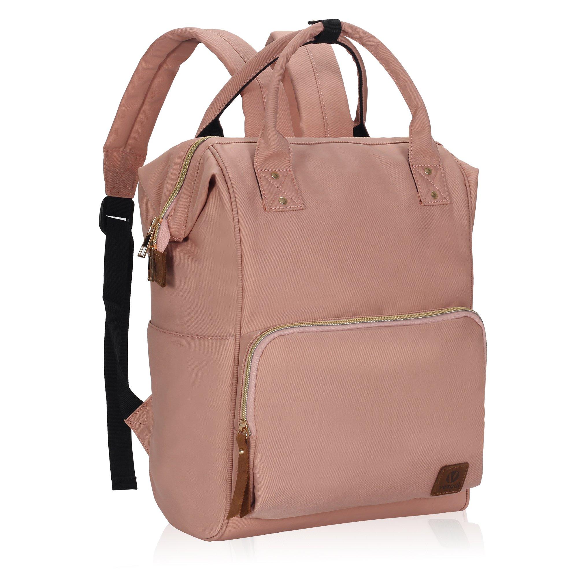 Veegul Wide Open Multipurpose School Backpack Lightweight Travel Bag 18L Light Pink by Hynes Eagle