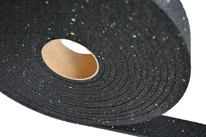 Terrassenpads Gummistreifen Gummigranulat Rolle Terrassenbau 5000 x 50 x 3 mm