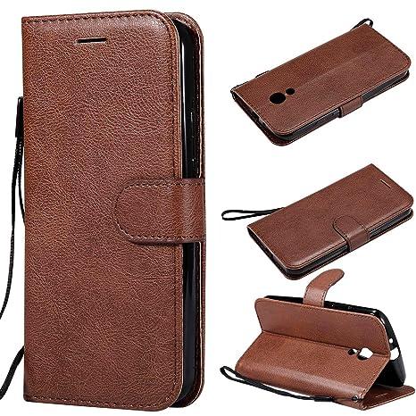XCYYOO Funda Motorola Moto G2 Silicona, Carcasa Libro de Cuero con Tapa de Holster PU y Silicona Elegante,Ranuras de Tarjetas y Billetera Case Flip ...
