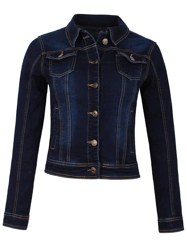 Fraternel Giacca di Jeans donna blouson denim stretch