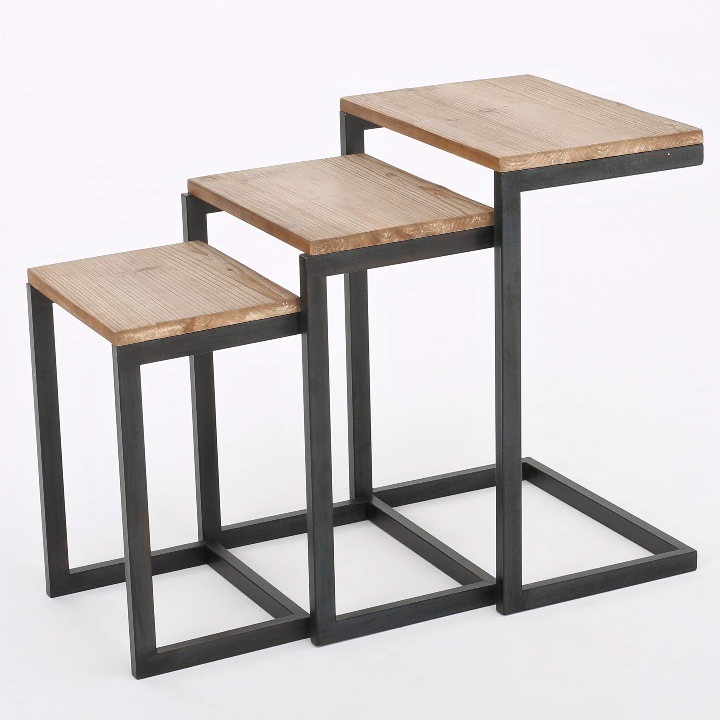 Savannah Fir Wood Antiqued Nesting Tables by Christopher Knight Home