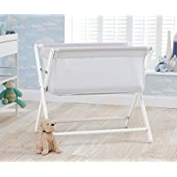 Little Chick Breathable Crib with a Luxury Breathable Microfibre Hypoallergenic Mattress - Cool White