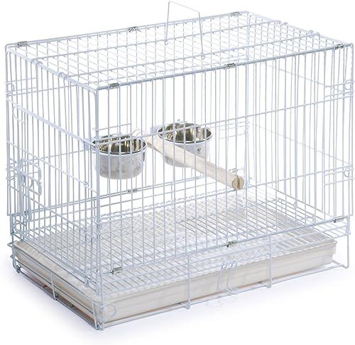 Prevue Hendryx Travel Bird Cage 1305 White, 20-Inch by 12-1 2-Inch by 15-1 2-Inch