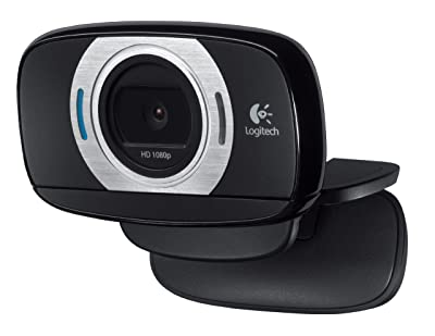 Logitech HD Laptop Webcam C615 with Fold-and-Go Design, 360-Degree Swivel, 1080p Camera