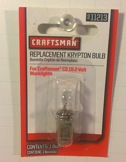 Replacement Krypton Bulb 1 Pk for Craftsman Worklight C3 19.2 volt - Basic Handheld Flashlights - Amazon.com