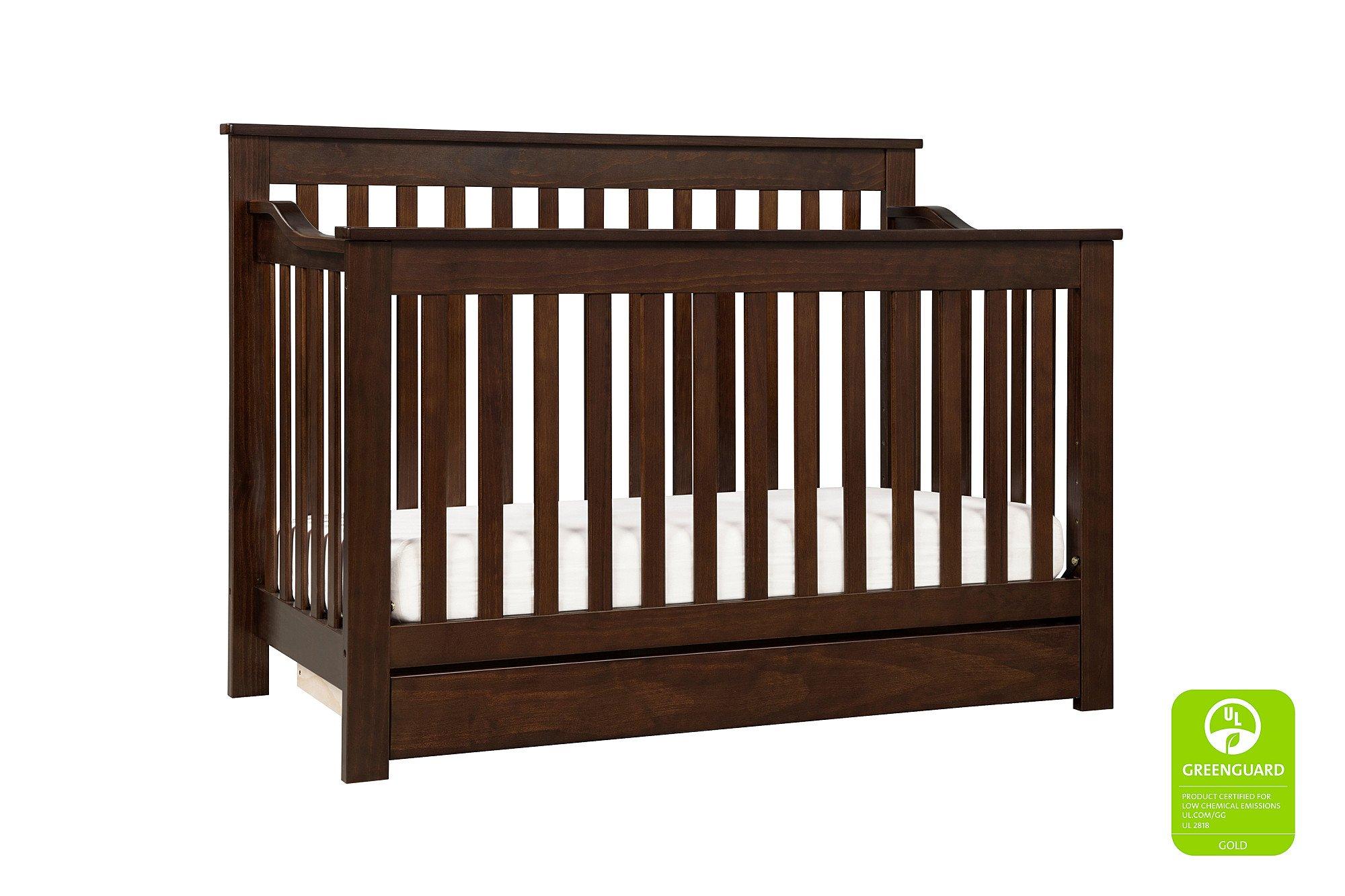 Davinci Piedmont 4-in-1 Crib Full Size Conversion Kit Bed Rails - Espresso