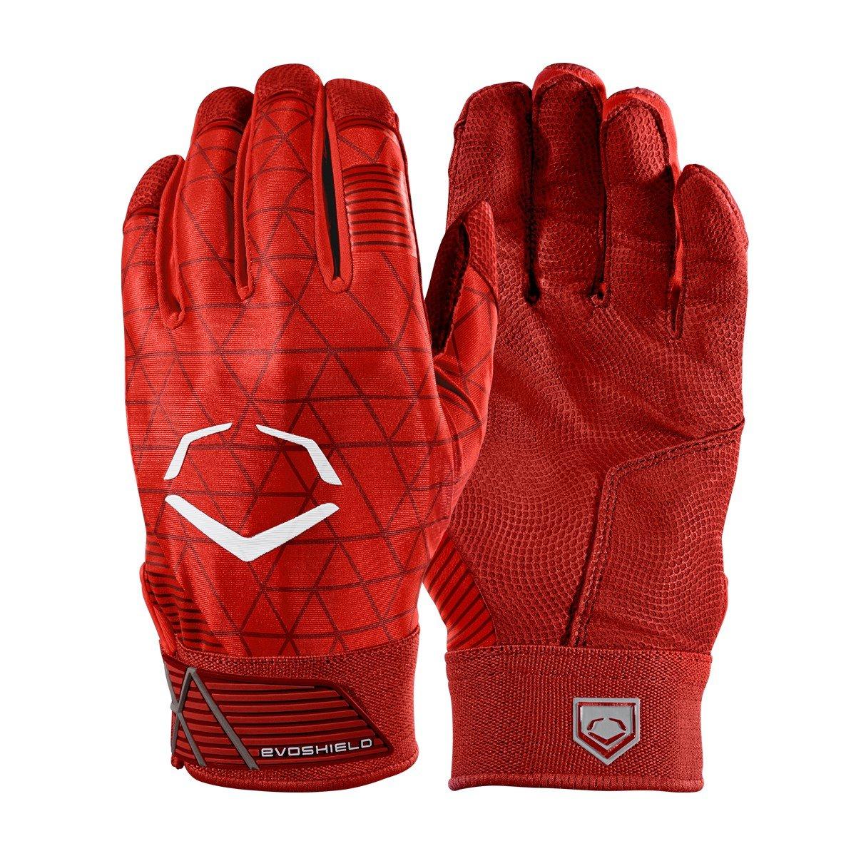 Evoshield evocharge保護用バッティング手袋 B0741JS3RC Small|レッド|アダルト レッド Small
