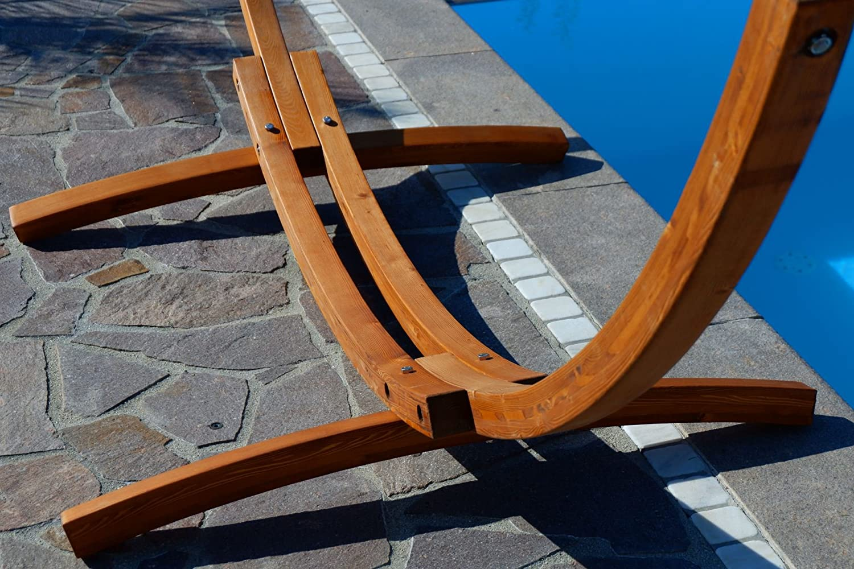 Amaca XL deluxe nobile 320cm con cornice in legno larice mod CALETA