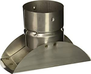 SELKIRK Corp 243805 Horizontal Termination Stove Pipe Cap, 3 Inch, Stainless Steel