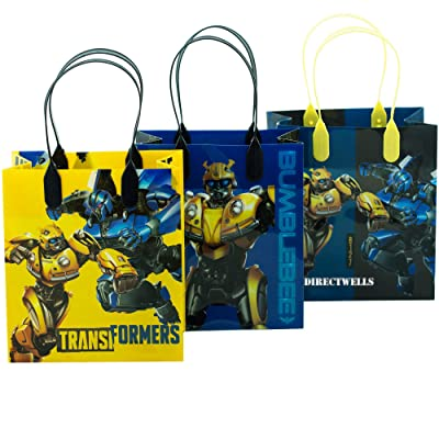 "Transformers 12 Party Favor Reusable Goodie Small Gift Bags 6"": Toys & Games"