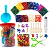 Non Toxic Water Beads Kits for Kids-Assorted Colors Small 11000 Water Beads,150 Jumbo Large Beads/Balloons/Ocean Animals-All