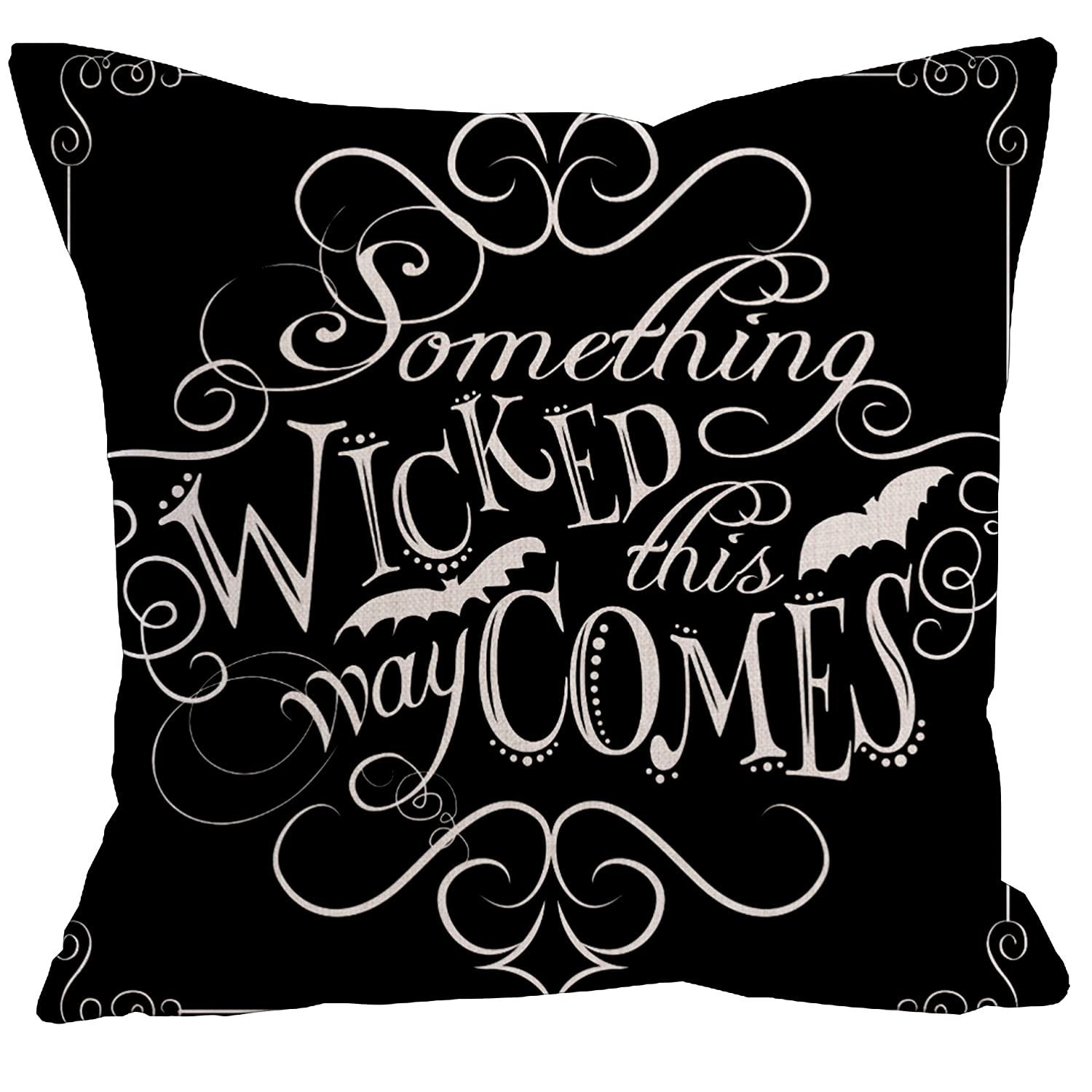 KACOPOL Stay Weird Funny Quote Throw Pillow Covers Cotton Linen Home Decorative Throw Pillow Case Cushion Cover Words Square 18 x 18 Stay Weird