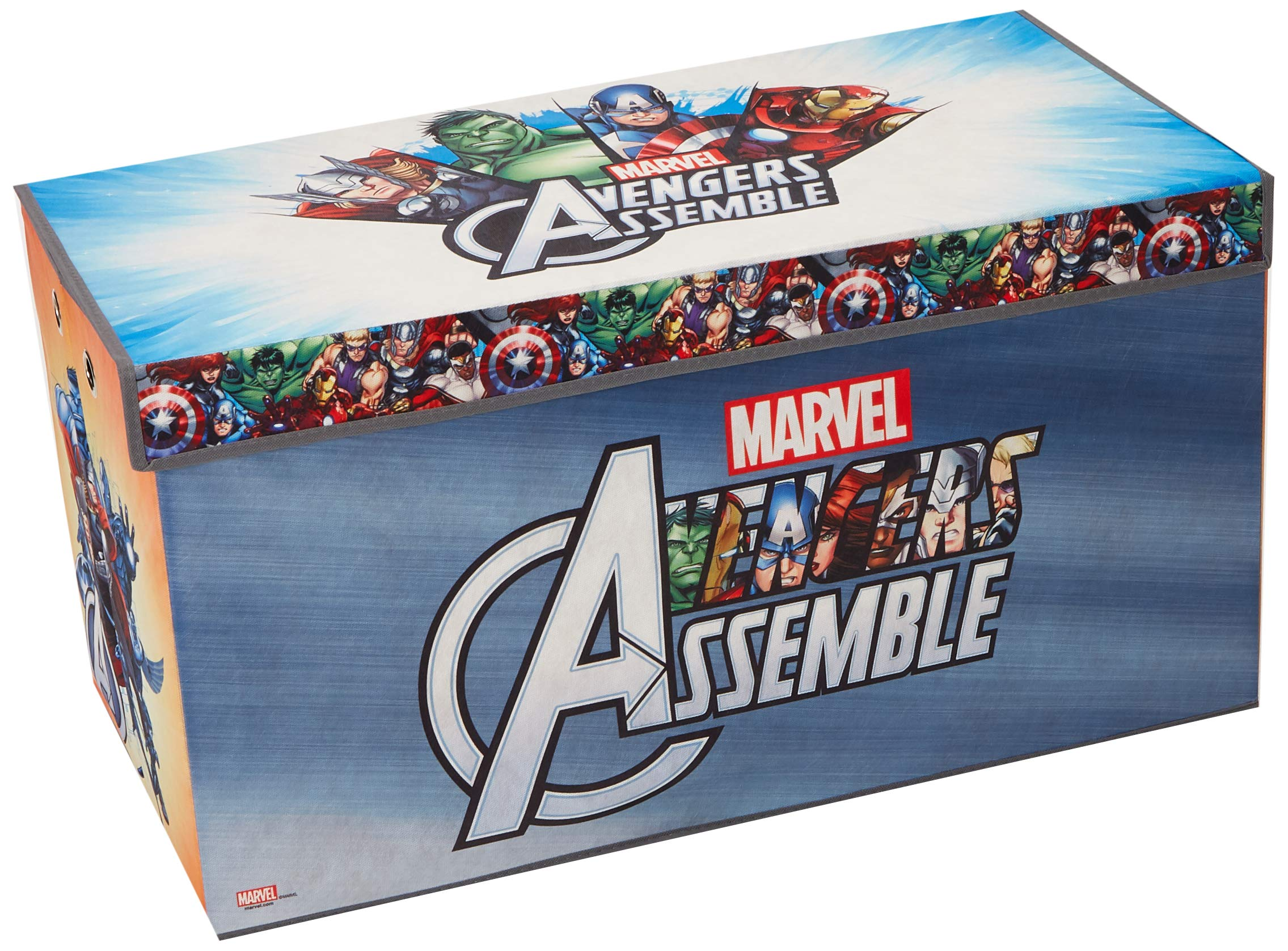 Avengers Folding Soft Storage Bench, Perfect Toy Box or Chest for Playrooms, Officially Licensed Product by Fresh Home Elements