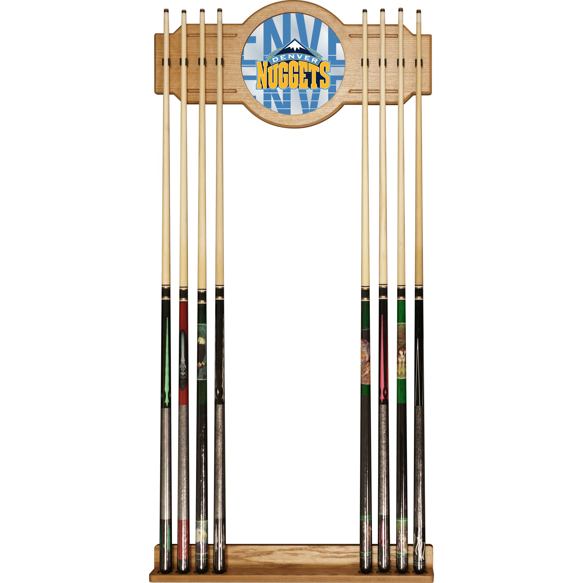 Trademark Gameroom NBA6000-DN3 NBA Cue Rack with Mirror - City - Denver Nuggets