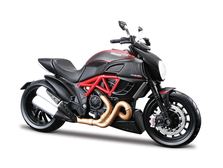 Echelle 1//12 2049733 Maisto V/éhicule Miniature Mod/èle /À L/échelle Ducati Diavel Carbone