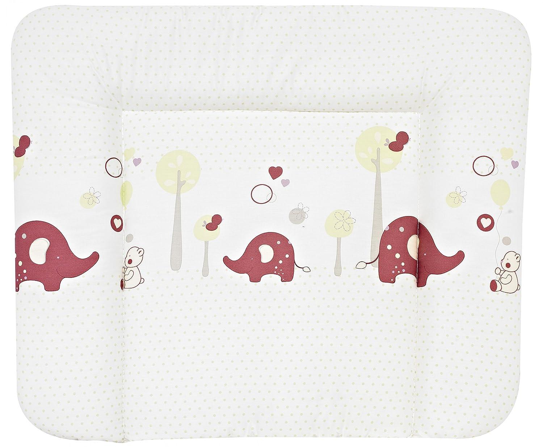 Rotho Wickelauflage Wickeltischauflage Wickelunterlage Baby Elefanten weiß 75x85
