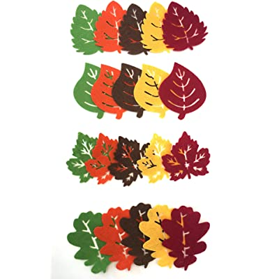 Felt Leaves 20 Count Assorted Leaf Shapes: Arts, Crafts & Sewing