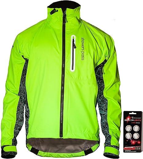 Mens Cycling Waterproof Jacket Breathable Rainproof High Hi Visibility Coat
