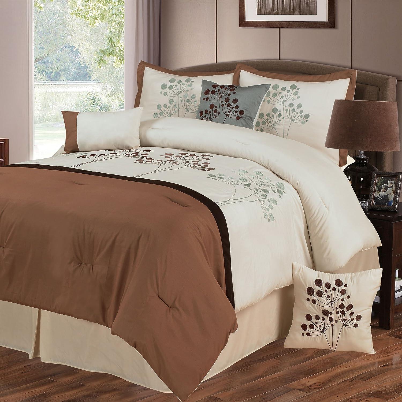 KESS InHouse Louise Machado Fun Circle Brown Geometric Queen Comforter 88 X 88