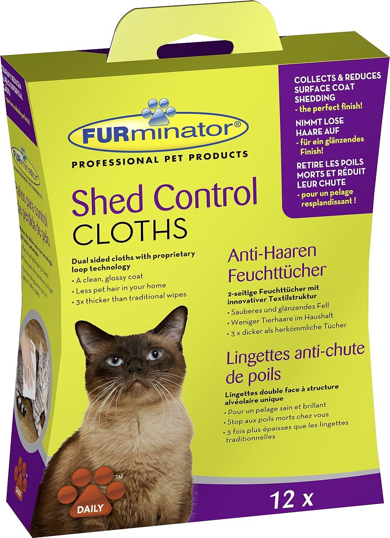 FURminator Shed Control Cloths for cats 12 pcs: Amazon.es ...