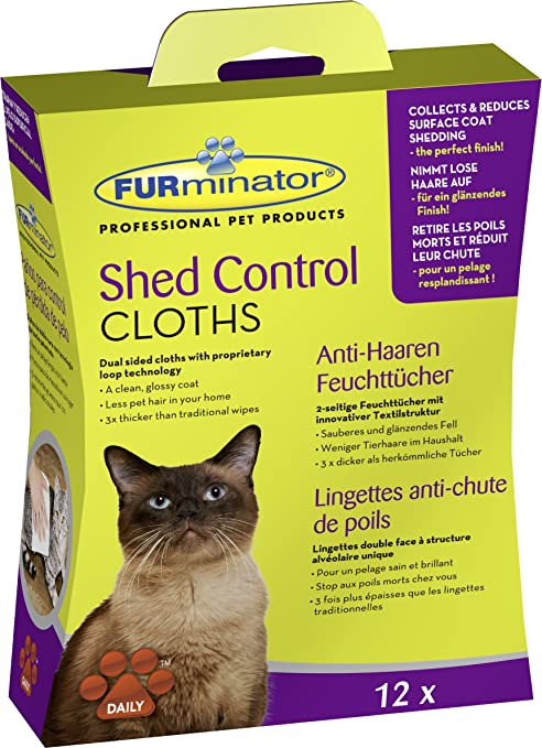 Furminator Shed Control Cloths for cats 12 pcs