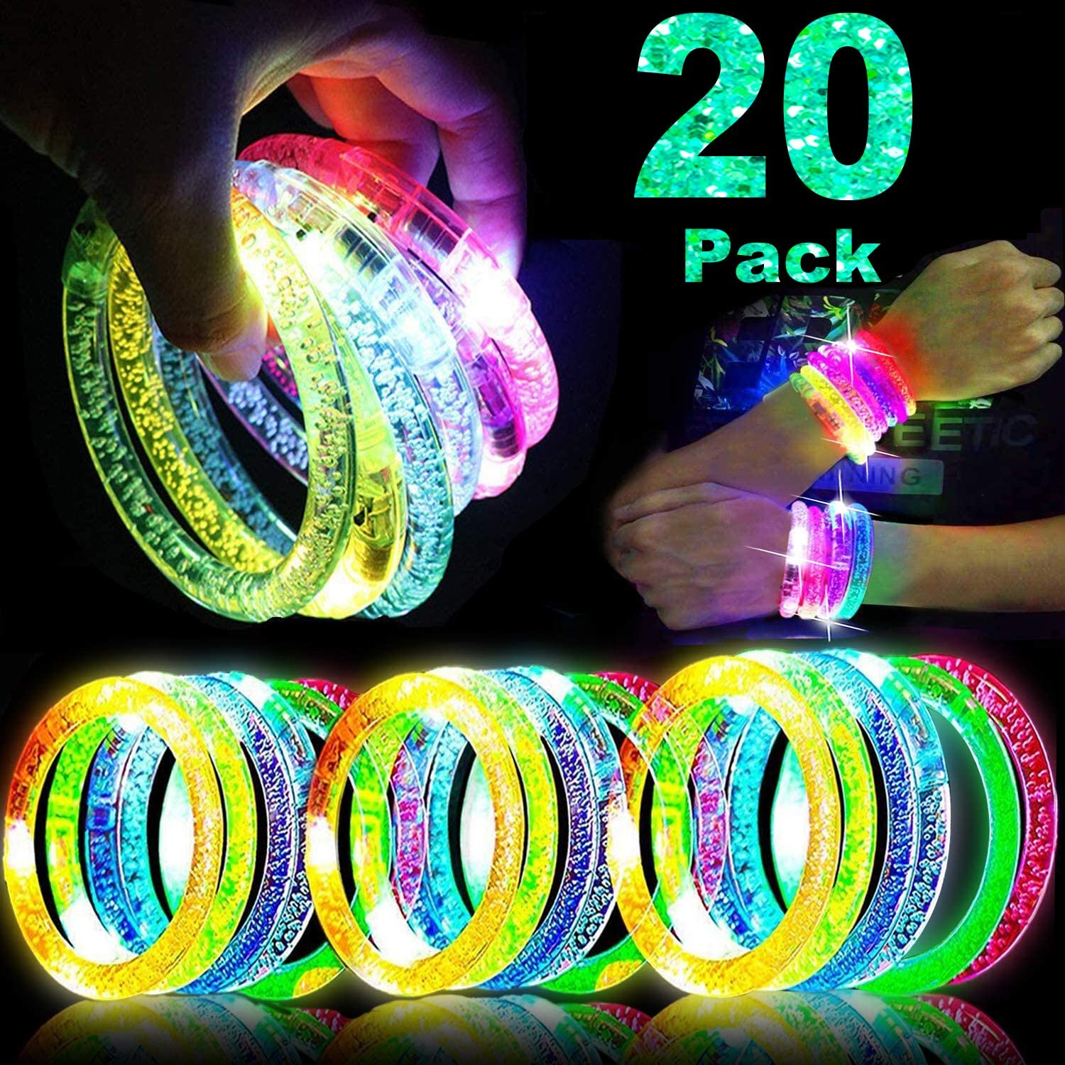 Colored Wristbands Blue 20 Pack