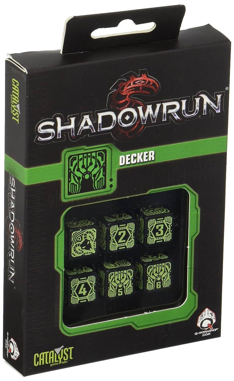 Multi-Color Q WORKSHOP Qworkshop QworkshopSSDH21 6 Piece Shadowrun Decker D6 Dice Set