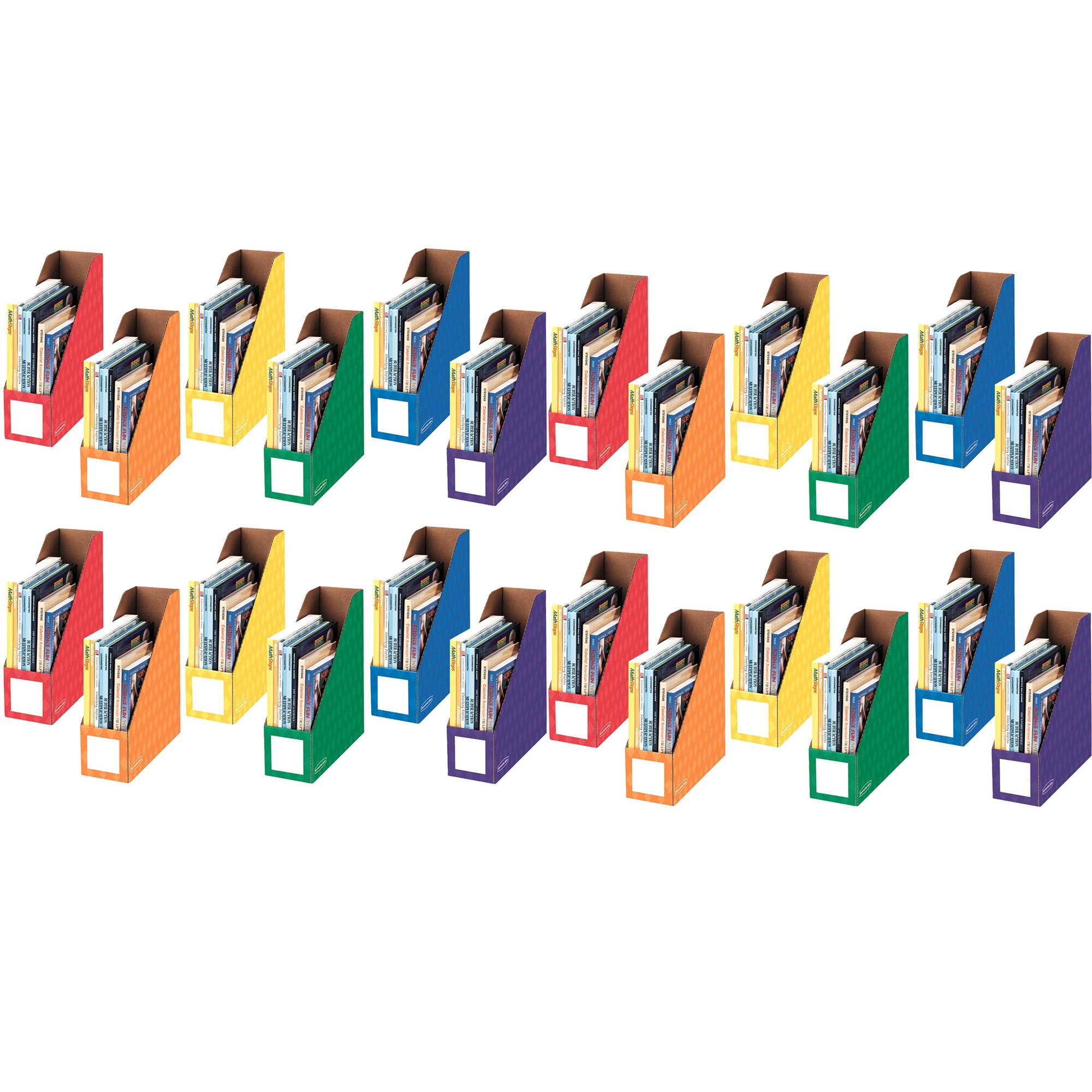Bankers Box Classroom Magazine File Organizers, 4-Inch, Assorted Colors, 6 Pack (3381901), 4-Pack