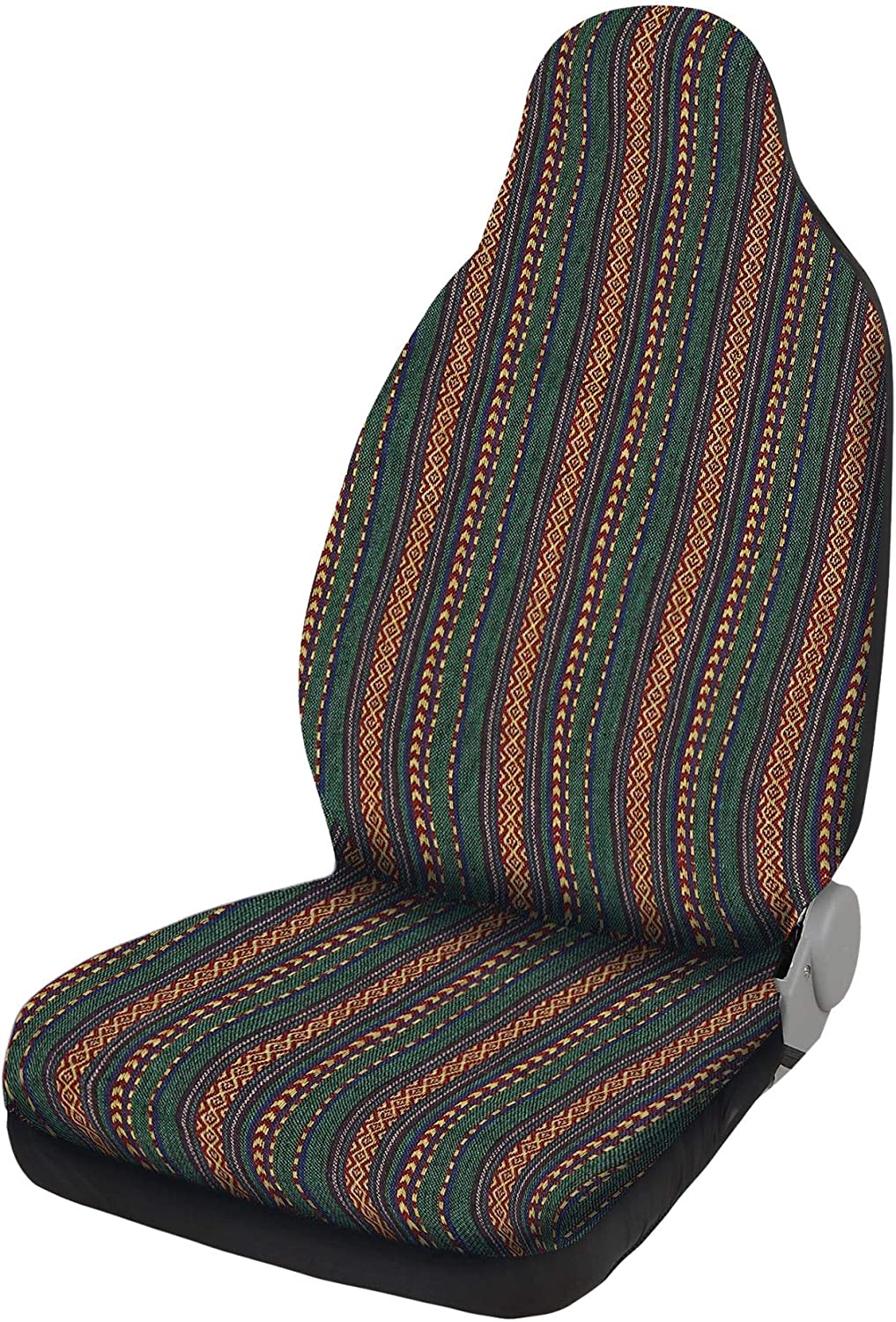 X AUTOHAUX Universal Green Front Seat Covers Car Blanket Seat Covers Bohemian Style Seat Cover for Car SUV Truck