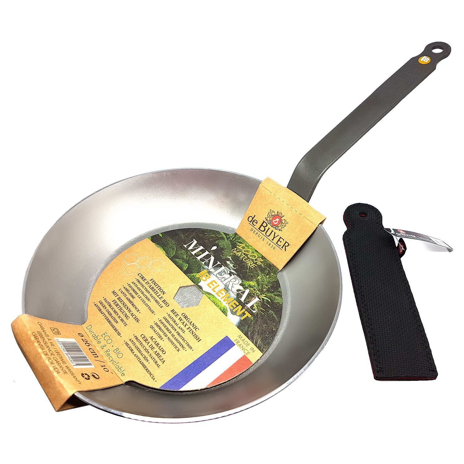 Amazon.com: De Buyer Mineral B Element Iron Frypan, Round with ...