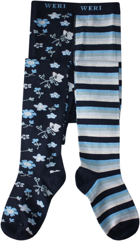 in marine Weri Spezials Baby und Kinderstrumpfhose f/ür jedes Bein-das andere Design
