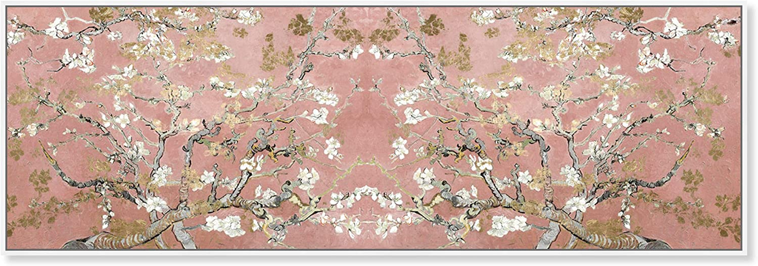 The Oliver Gal Artist Co. Floral and Botanical Framed Wall Art Canvas Prints 'Van Gogh in Blush Blossoms' Trees Home Décor, 30