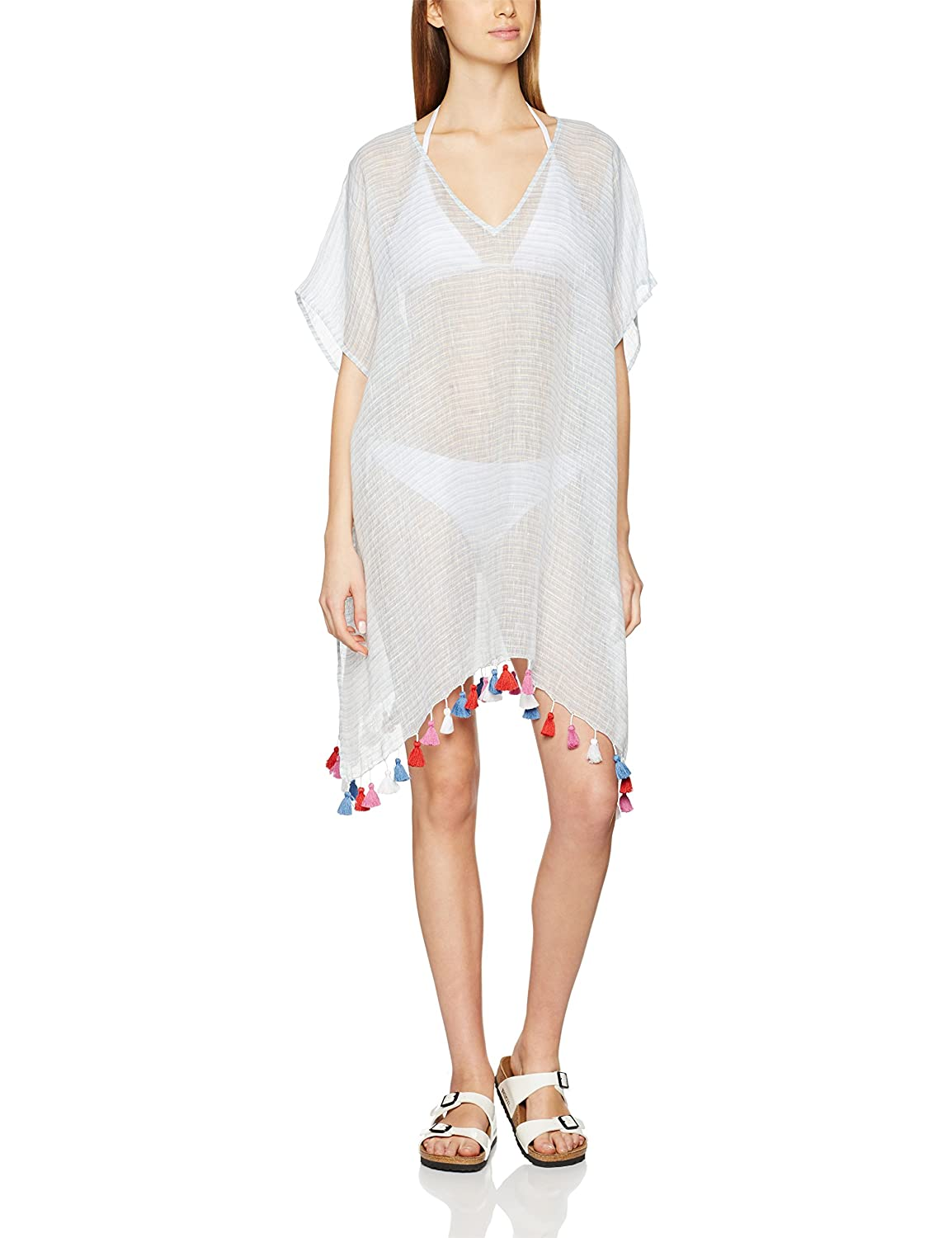 Seafolly Damen Pareos Fine Stripe Kaftan