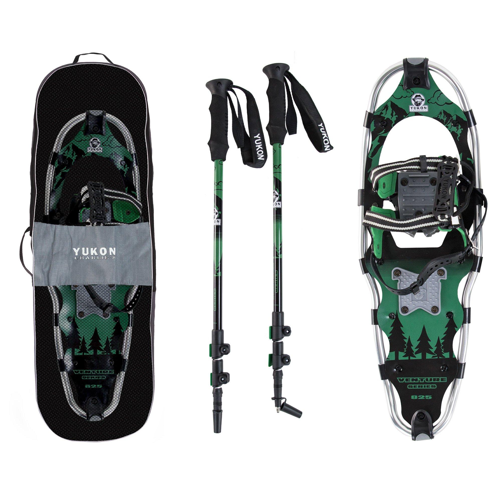 Yukon Charlie's Advanced 9x30 Inch Men's Snowshoe Kit with Aluminum Poles & Bag by Yukon Charlie's