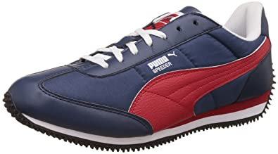 7d31c864159 Puma Men's Insignia Blue, High Risk Red and White Sneakers - 9 UK/India