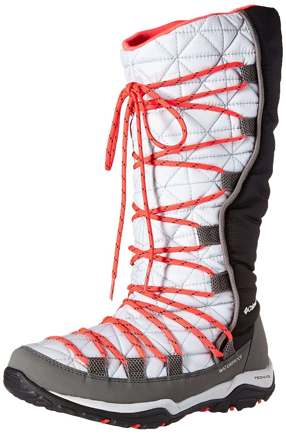 Columbia Women's Loveland Omni-Heat Snow Boot B0183O0VYO 6.5 B(M) US|Cool Grey, Laser Red